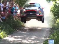 WRCラリーポーランドのジャンプスポット激しすぎ。地面にGoPro並びすぎww