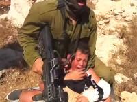 イスラエル兵が12歳の少年を力で押さえ込んで無理やり拘束。映像が公開され問題に。