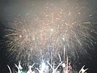 なにわ淀川花火大会楽しいすぎ。2015フィナーレの様子。1gニッキ。