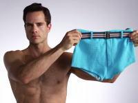 過去100年間の水着の流行の変化を3分間で追うビデオ。ただし男性水着なんだなこれが。