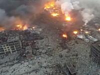 中国大爆発の爆心地の様子を空撮したビデオがハンパねえ(@_@;)これは核爆弾だわ。