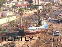 津波の高さ3.1メートル。チリ地震M8.3による津波の被害状況を空撮したビデオが怖い。