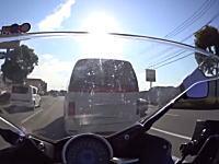 福岡DQN。危険な追い越しをされてブチギレたライダー。の車載ビデオ。