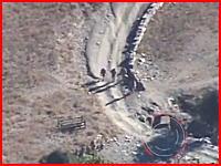 こわすぎ。テロリストが仕掛けた路肩爆弾(IED)に吹き飛ばされる兵隊さんたち。