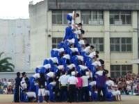 体育祭の10段ピラミッドが倒れて生徒が骨折の動画がキテタ。大正中学校(八尾市)腕が・・・。
