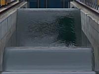 津波の伝播の仕組みを研究する為に作られた世界最大の大波発生システムDelta Flumeのビデオ。