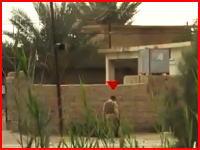 IED(即席爆発装置)で吹き飛ばされたイラクの兵隊さんを至近距離から撮影していたビデオ。