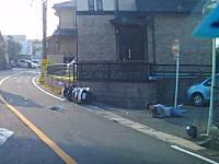 住宅街で起きた軽バンとビッグスクーターの事故。軽バンの一時停止無視か?確認不足か。