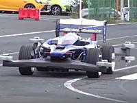 タミヤが1/1サイズのミニ四駆「実車版エアロアバンテ」を製作。走行動画あり。