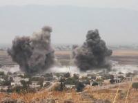 今日のシリア。遠くの爆撃を撮影してたら爆弾が目の前に!(°_°)衝撃的すぎる軍事動画。