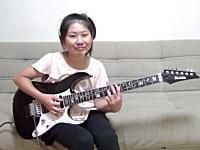 日本の10歳の少女によるメタルバンドのギターコピーが海外で高評価。りーさーX