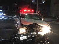 パトカーが目の前で事故った動画wwww埼玉県草加市で起きたパトカーと乗用車の事故の瞬間がアップされる。
