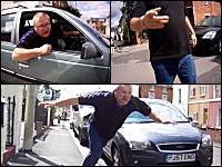 交通トラブルからの大喧嘩に発展。車のおじさんがダッシュで追いかけるも転倒して一回転する動画が人気に。