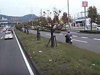 香川県の無敵ばーちゃんの豪快な逆走。真正面から対向車がきても(゚ε゚)キニシナイ!!