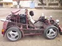 アフリカの技術力。スクラップから作られた車がなかなかの出来栄え。これは楽しそう。