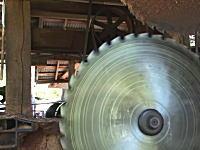 いい音動画。100年前の機械を使った作業を今も続けている木材屋さんのビデオ。