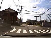 付けてて良かったドライブレコーダー。岐阜で信号無視のチャリンカーをはねてしまった車載。