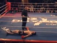 キックボクシングでワロタ。完全にノックアウトされているのに諦めきれないヤツがww
