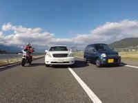 長野自動車道で撮影されたセルシオのオラドケ運転。幅寄せからの尻ピタ煽り。