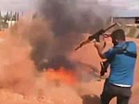 自由シリア軍(FSA)のトレーニング風景がwwwそれは危ないからやめた方が・・・。