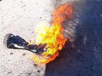 中国のネット通販で購入したホバーボードが爆発した(°_°)消防車が駆け付ける大騒ぎに。
