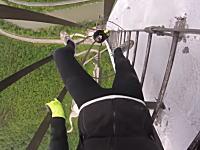 高所でガクブルい煙突版。ヨーロッパ一高いトルボヴリェ煙突に登ってみた動画。