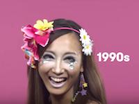 日本女性の「美」過去100年間のメイクとヘアスタイルの流行の変化を100秒で。