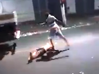 DQN乱闘。殺人キックライブリーク。頭部を何度も蹴られた男が死亡。