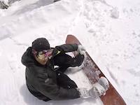 どっちが悪い。猪苗代スキー場でのトラブル動画。後ろから猛スピードのボーダーが突っ込んできた。