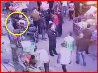 ブチギレた市場の魚屋さん。口論になった相手を中華包丁で斬りつけて殺害する。