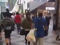 マジ●チ?大阪の心斎橋筋商店街でヤバい男が撮影される。体当たり屋?