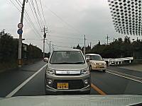 福岡で撮影された居眠り運転の対向車に正面から突っ込まれる衝撃のドライブレコーダー(°_°)
