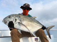 石垣島で16キログラムのGT(ロウニンアジ)を釣ったぞ!(1gニッキ。)