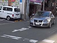 高知県警の覆面パトカーが「止まれ」無視で一時停止違反??動画が撮影される。