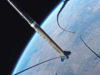マッハ5.5で上昇するロケットからのGoPro動画。美しい地球の姿とSFみたいな映像。