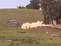 WRCを撮影するヘリコプターのパイロットはドライバーよりすご腕かもしれない。