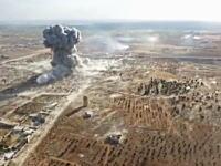 目に見える衝撃波。シリアの戦車戦をドローンで空撮したビデオがアップされる。