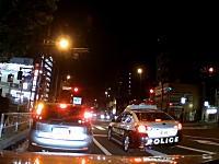 えっ!?行っちゃうの?板橋区で撮影されたパトカーの信号無視。見切り発車で完全アウトw