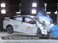 トヨタの新型プリウスがヨーロッパの安全テストで★★★★★の最高評価を獲得。