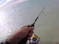 iPhoneにフックを付けて投げたらお魚が釣れたwww魚釣り簡単すぎるwww