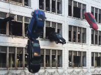 クリーブランドOHの通りを閉鎖して行われた映画ワイルド・スピード8の撮影が大迫力。