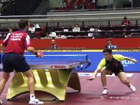 卓球世界ランキング2位の魔球。樊振東の跳ねないショット。これは取れないwww