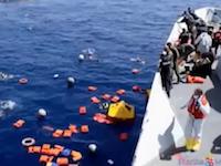 リビアの難民船沈没でズワラのビーチに100名を超える難民の遺体が打ち上げられる。