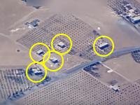 ピンポイント空爆の命中精度が凄い。映像の5つの建物が跡形も無く消し飛ぶ。