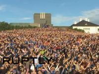 「フゥの儀式」サッカーアイスランド代表と1万人のファンが一体になる儀式がカッコイイ。