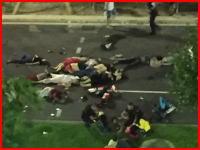 フランスで自動車テロか。花火の見物客にトラックが突っ込み60人以上が死亡か。運転手は銃撃戦で死亡。