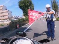 ハラハラ動画。危なっかしいNinja400乗りの捕まった転倒した危なかった車載まとめ。