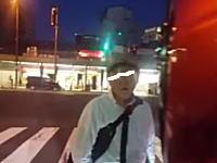 大阪天王寺で酔っ払いのおっさんに絡まれたライダーのビデオが話題に。
