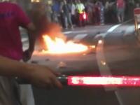 杉並区の富士見ヶ丘祭りで火炎瓶が投下される瞬間の映像がキタゾ!