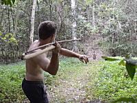 原始生活の人の武器シリーズ最新作「アトラトル(投槍器)と槍」森にあるものだけで強力な武器を作る。
